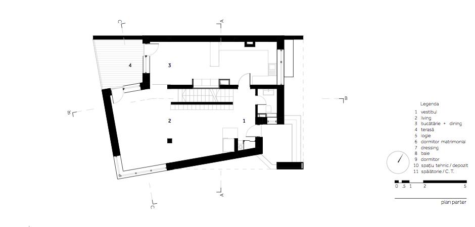 Casa LR - W.03 Plan parter