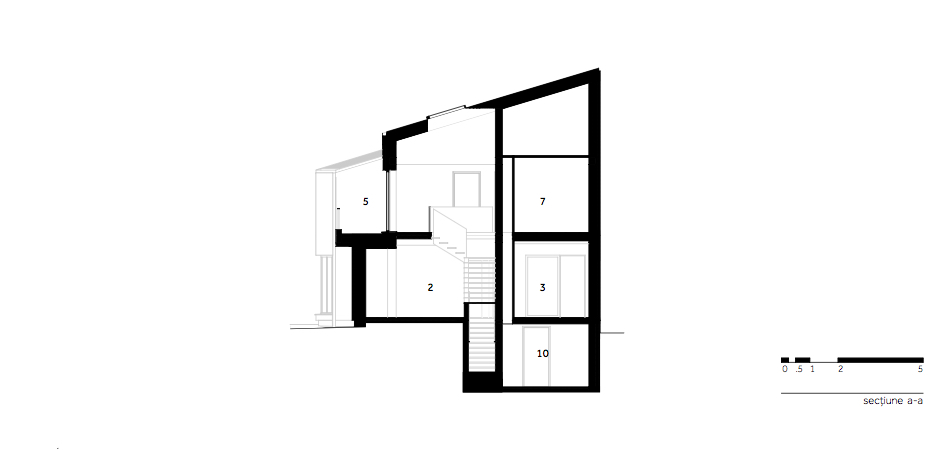 Casa LR - W.05 Sectiune a-a