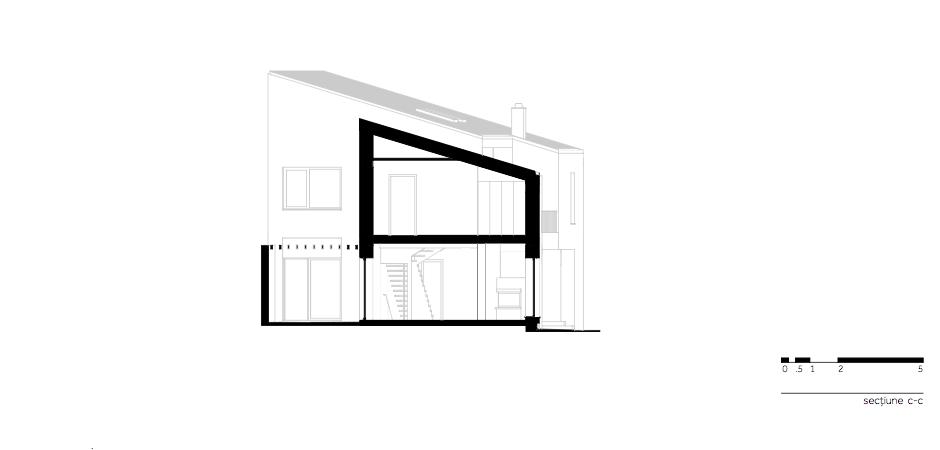 Casa LR - W.07 Sectiune c-c