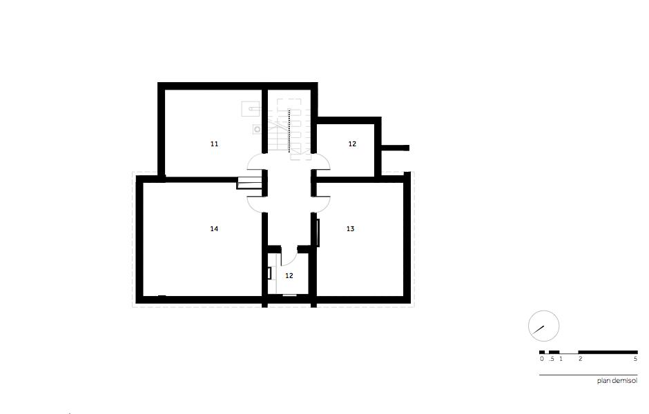 Casa AF - W.02 Plan demisol