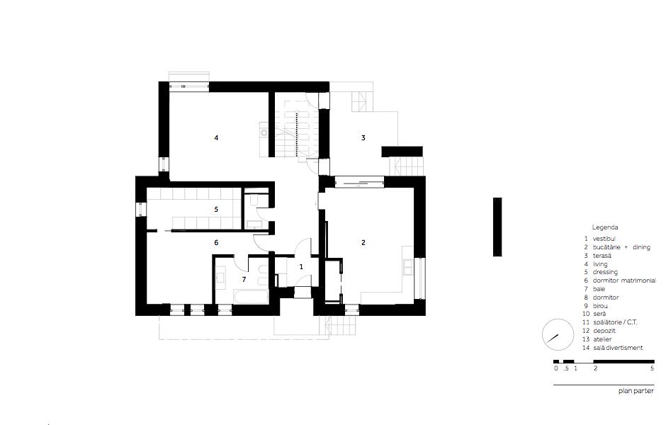 Casa AF - W.03 Plan parter
