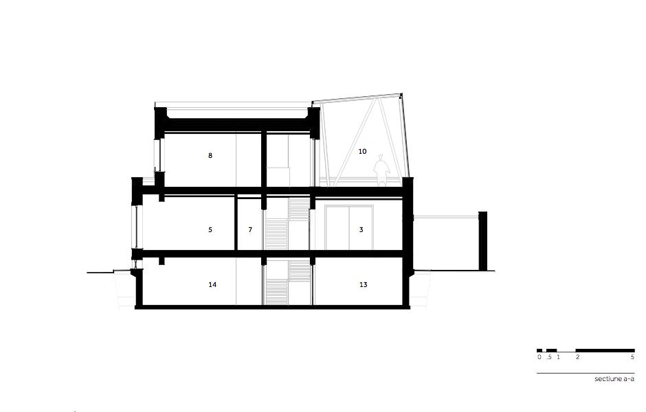 Casa AF - W.04 Sectiune a-a