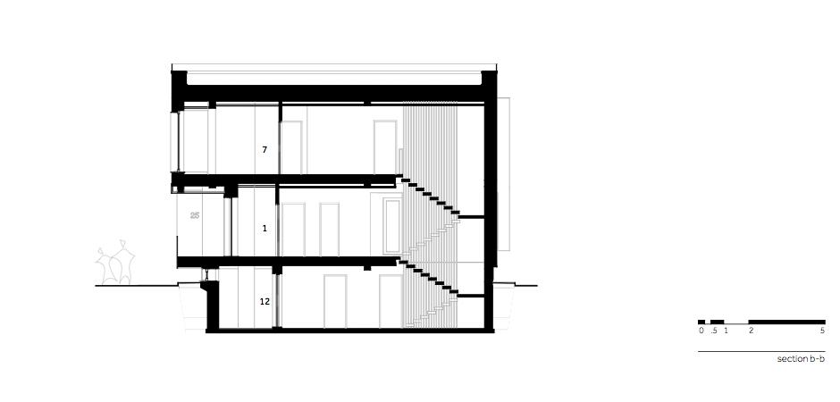 Casa AF - W.06 Section b-b_en