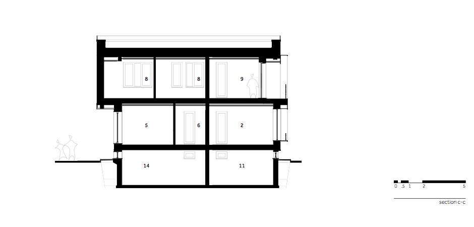 Casa AF - W.07 Section c-c_en