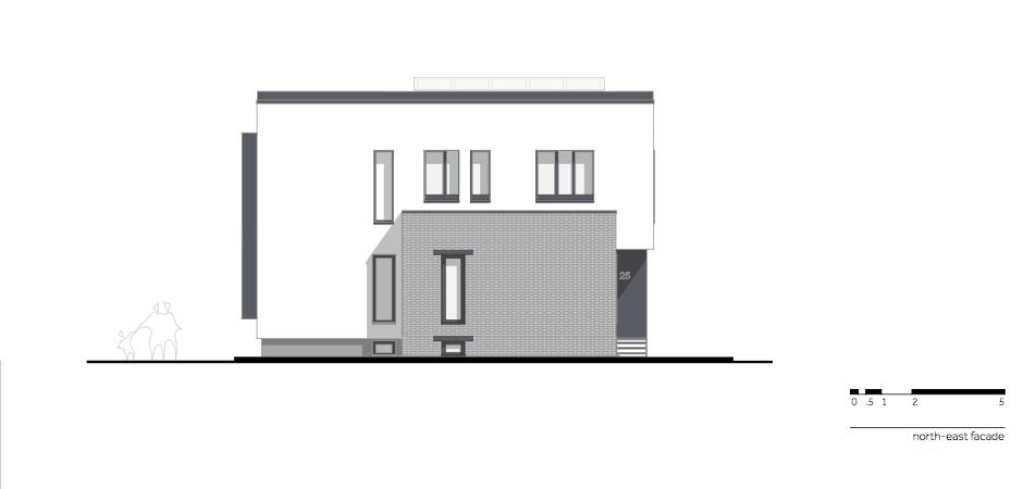 Casa AF - W.08 North-east facade_en