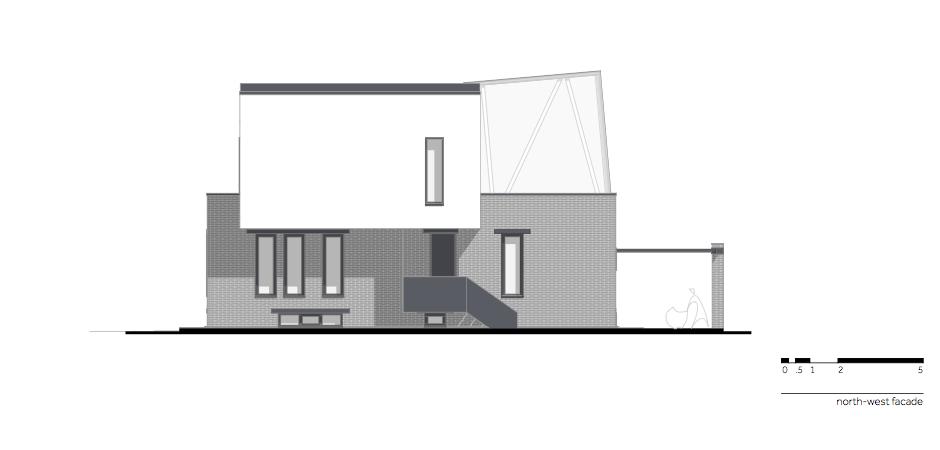 Casa AF - W.09 North-west facade