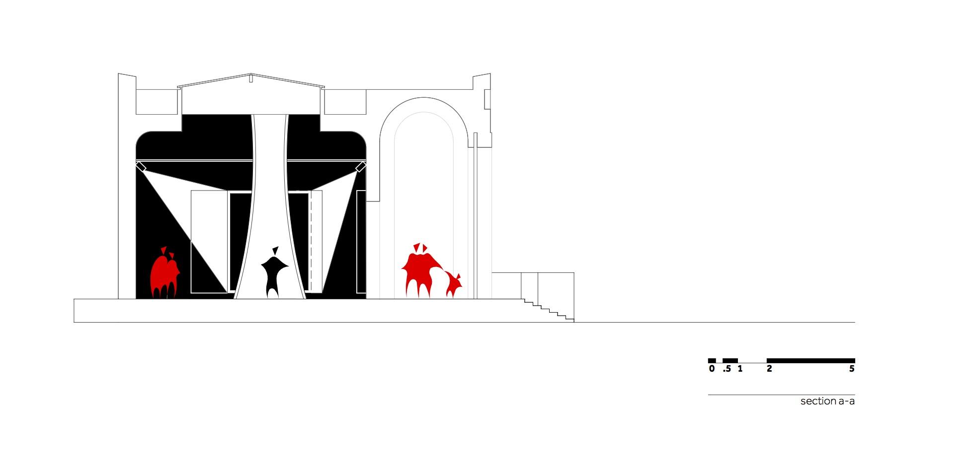 MHS - Bienala de la Venetia - W.03 Sectiune a-a_en